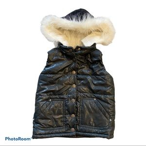 The Children's Place Girl's Puffy Shiny Black Vest